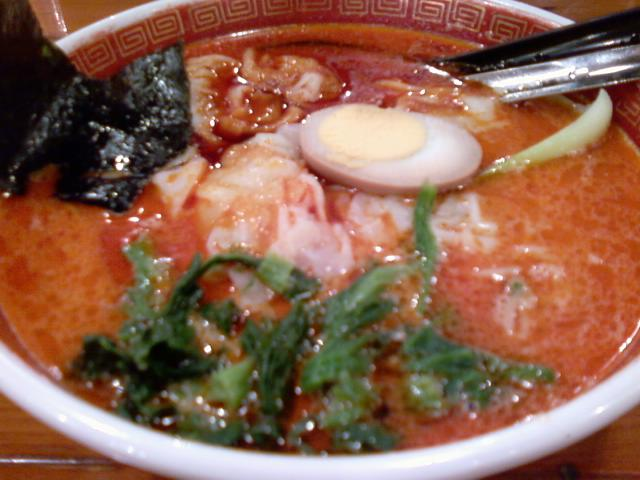 ごま辛ワンタン麺